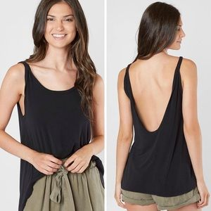 NWT Free People Atlantic Tank Top Black Size Small